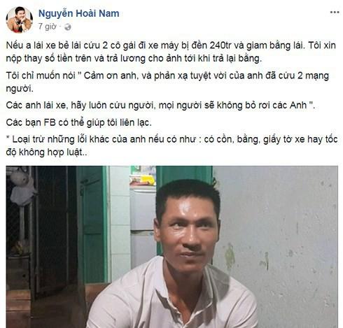 Chồng hoa khôi Thu Hương hứa giúp tài xế 240 triệu nếu phải đền bù sau khi cứu 2 cô gái - Ảnh 2.