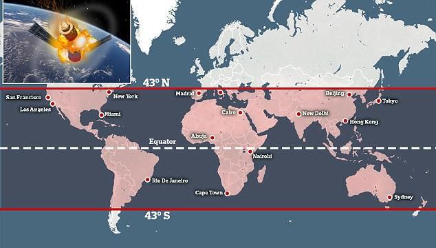 Trạm vũ trụ 8,5 tấn của Trung Quốc rơi không kiếm soát: Đây là những khu vực bị ảnh hưởng - Ảnh 4.