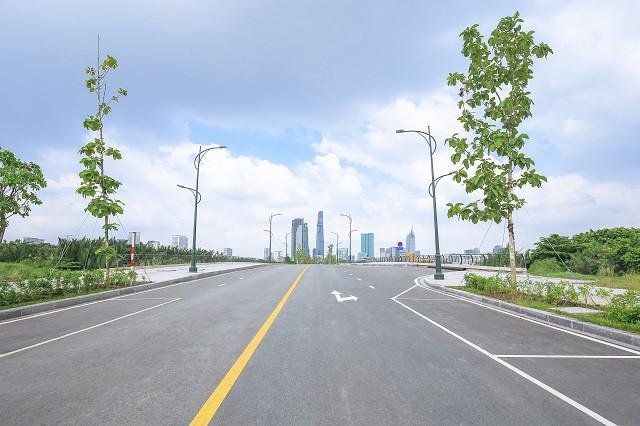 Cận cảnh con đường dát kim cương với chi phí 1.000 tỷ đồng/km ở Khu đô thị mới Thủ Thiêm - Ảnh 14.