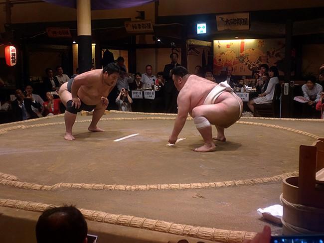 Nhà hàng sumo ở Nhật Bản, nơi thực khách thách đấu các võ sĩ - Ảnh 4.