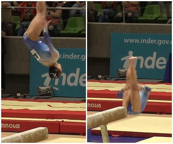 Clip: Khoảnh khắc nữ vận động viên 16 tuổi gặp sự cố đáng tiếc khi đang thi đấu - Ảnh 2.