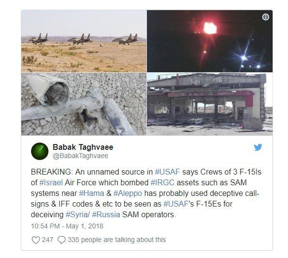 Vụ tập kích 29/4: F-15 Israel giả dạng tiêm kích Mỹ, khiến PK Nga-Syria không dám ho he? - Ảnh 2.