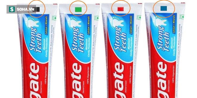 Màu đỏ và đen trên tuýp kem đánh răng cảnh báo nguy hiểm: Đúng hay sai? - Ảnh 1.