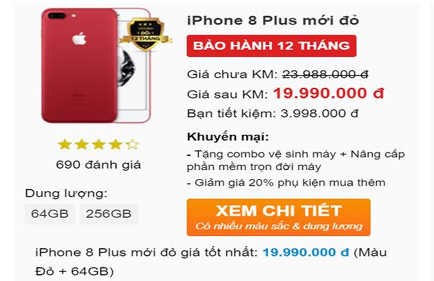 iPhone 8 màu đỏ xách tay giảm giá, tụt mốc 20 triệu đồng - Ảnh 2.