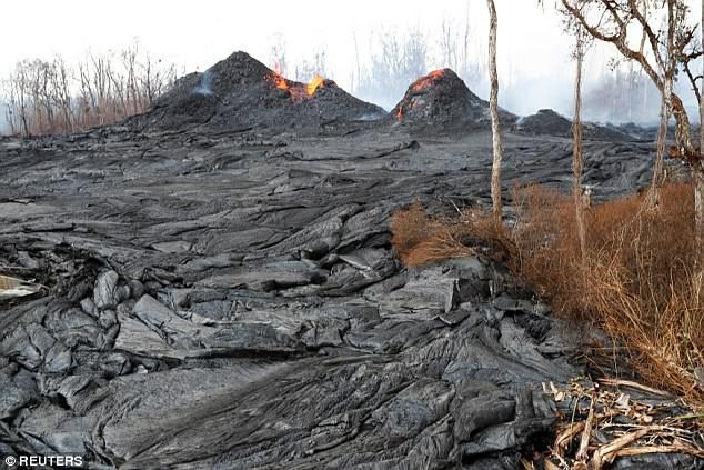 Địa ngục đảo Hawaii những ngày núi lửa phun trào: dung nham tràn xuống tận vườn nhà - Ảnh 4.