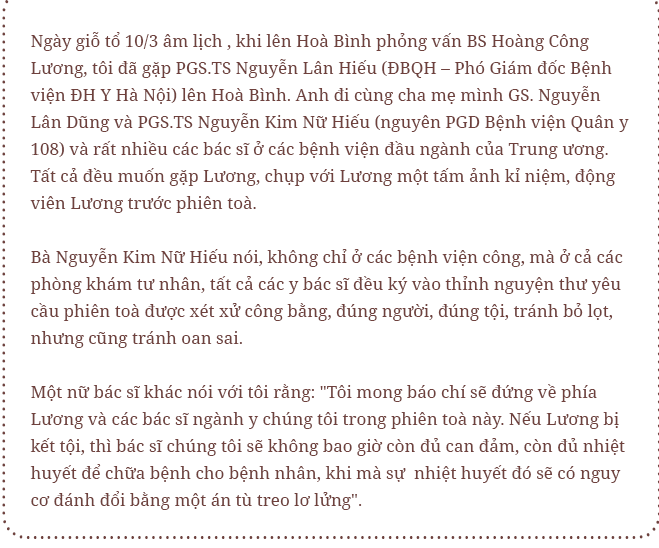 BS Hoàng Công Lương: Tôi mong chờ phiên toà vì tin 100% mình vô tội - Ảnh 25.