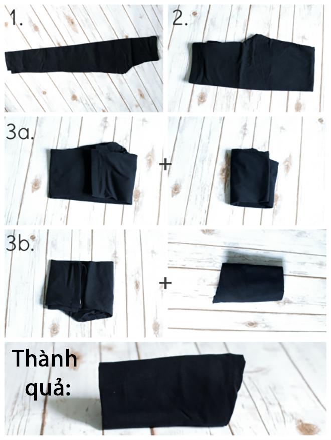 7 mẹo gấp quần áo vừa nhanh vừa gọn giúp chị em không còn đau đầu vì tủ đồ lúc nào cũng chật ních - Ảnh 4.
