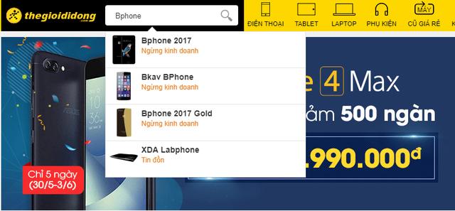 Thế Giới Di Động cũng đã phải ngừng phân phối Bphone 2017 dù mới chỉ hợp tác được chưa đến 10 tháng - Ảnh 2.