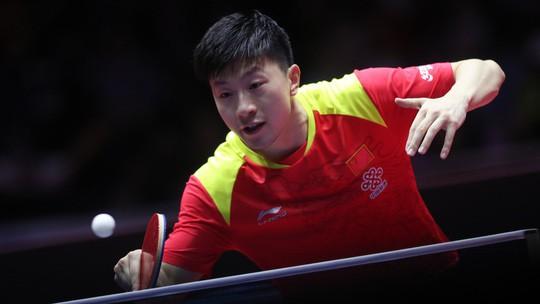 Cao thủ bóng bàn Trung Quốc thua sốc tay vợt 14 tuổi Harimoto - Ảnh 1.