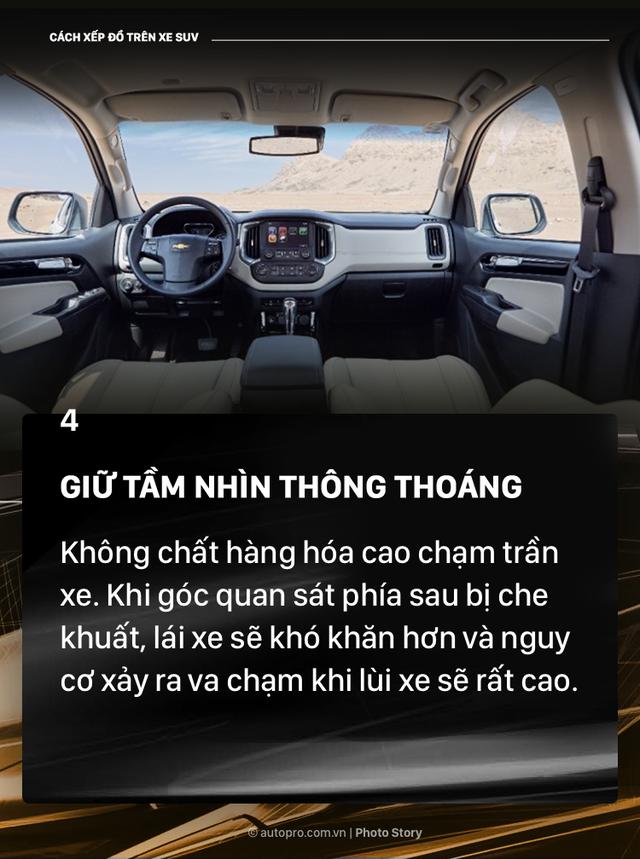[Photo Story] Đây là các cách xếp đồ gọn gàng trên SUV mà bạn cần biết - Ảnh 5.