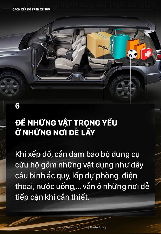 [Photo Story] Đây là các cách xếp đồ gọn gàng trên SUV mà bạn cần biết - Ảnh 7.