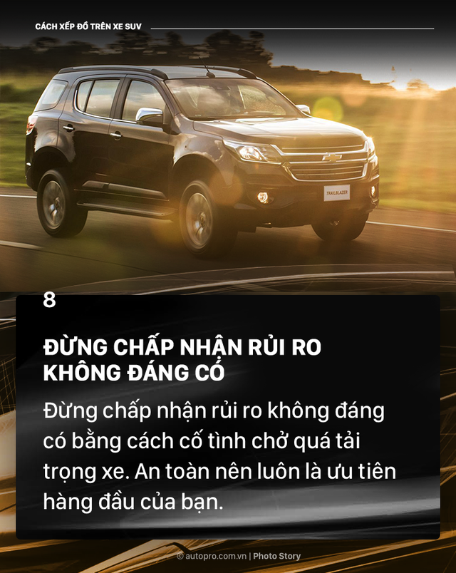 [Photo Story] Đây là các cách xếp đồ gọn gàng trên SUV mà bạn cần biết - Ảnh 9.