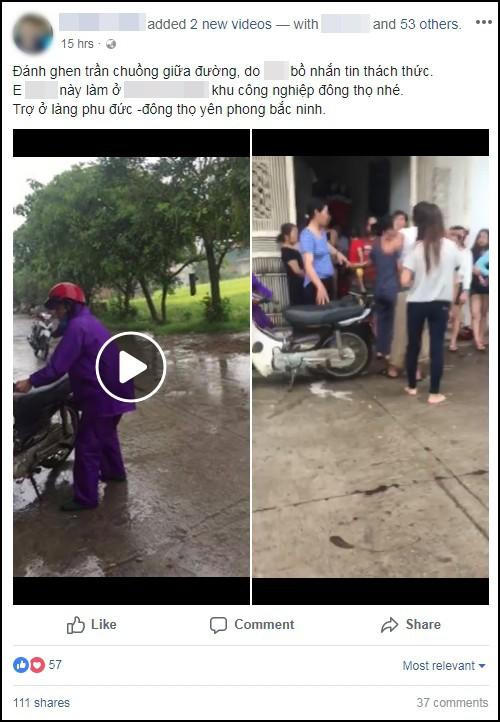Cô gái bị nhóm phụ nữ giữ tay chân, lột sạch quần áo giữa đường nghi do nhắn tin thách thức vợ nhân tình - Ảnh 1.