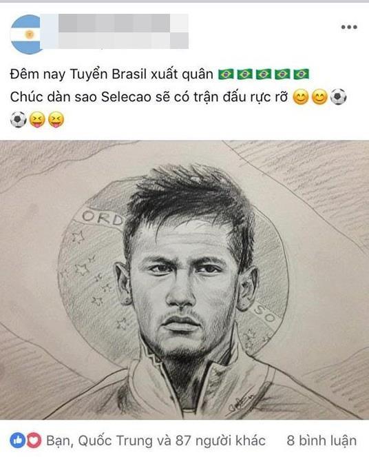 Chàng trai vẽ cầu thủ nào là ĐT nước ấy hòa hoặc thua: Chiều nay em đăng ảnh Cris Ronaldo! - Ảnh 4.