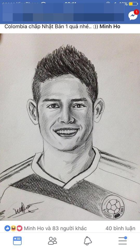 Chàng trai vẽ cầu thủ nào là ĐT nước ấy hòa hoặc thua: Chiều nay em đăng ảnh Cris Ronaldo! - Ảnh 5.