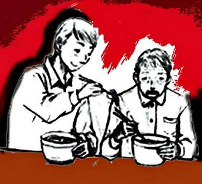 Đưa bố vào quán gọi 2 tô mỳ, hành động của con trai khiến nhân viên không nói nên lời - Ảnh 1.