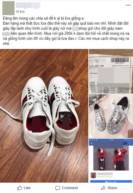Đặt giày nữ lấp lánh qua mạng, cô gái khóc thét khi nhận được đôi giày nam, còn bị shop lơ đẹp khi phản hồi về sản phẩm - Ảnh 1.