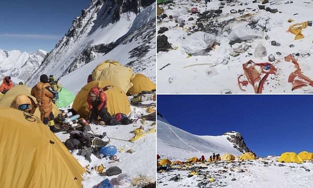 Những hình ảnh gây shock: Đỉnh Everest danh giá giờ đã trở thành bãi rác cao nhất thế giới - Ảnh 4.