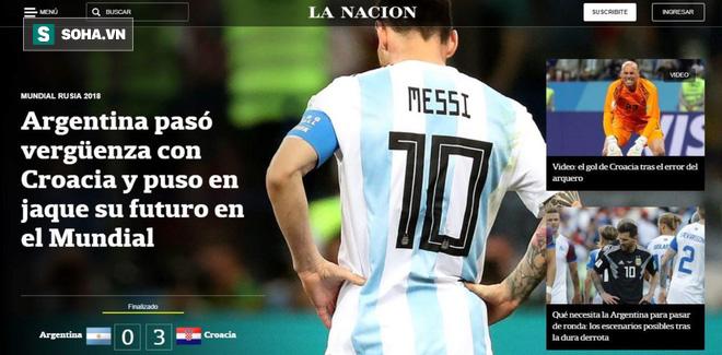 Xấu hổ, thảm họa, đau khổ, báo Argentina câm lặng vì Messi và đồng đội - Ảnh 2.