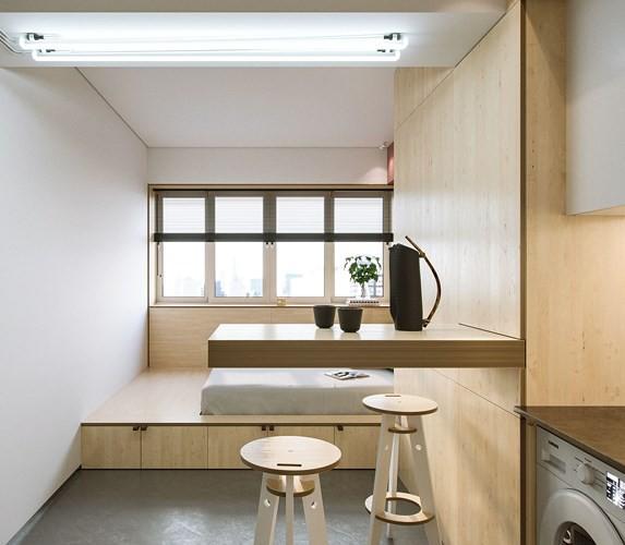 Căn hộ 23 m2 thiết kế theo phong cách tối giản - Ảnh 2.