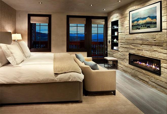 17 kiểu phòng ngủ với tường đá và gạch thô đáp ứng mọi sở thích của người chuộng phong cách này - Ảnh 11.