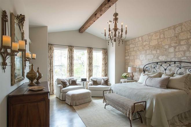 17 kiểu phòng ngủ với tường đá và gạch thô đáp ứng mọi sở thích của người chuộng phong cách này - Ảnh 14.