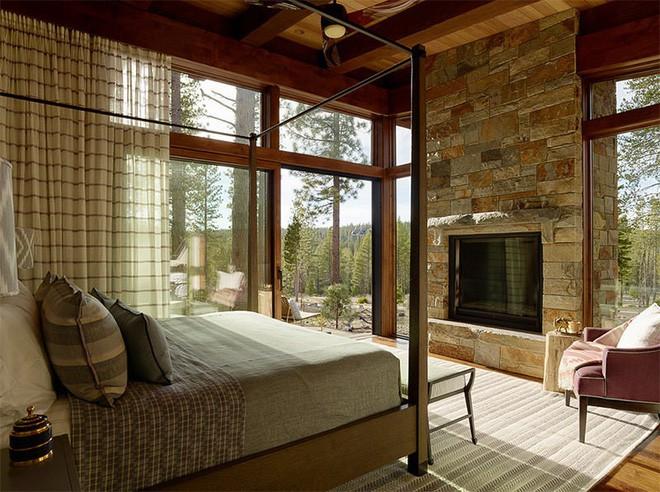 17 kiểu phòng ngủ với tường đá và gạch thô đáp ứng mọi sở thích của người chuộng phong cách này - Ảnh 16.