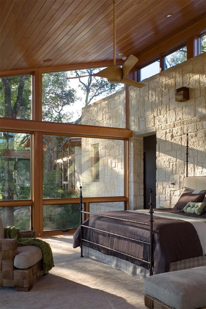 17 kiểu phòng ngủ với tường đá và gạch thô đáp ứng mọi sở thích của người chuộng phong cách này - Ảnh 5.
