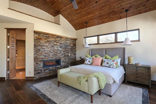 17 kiểu phòng ngủ với tường đá và gạch thô đáp ứng mọi sở thích của người chuộng phong cách này - Ảnh 7.