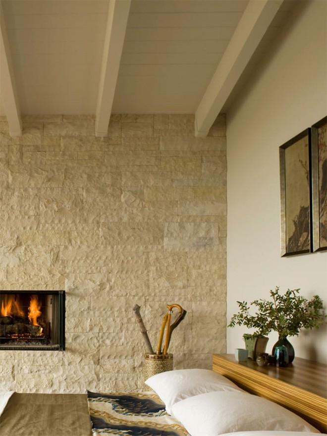 17 kiểu phòng ngủ với tường đá và gạch thô đáp ứng mọi sở thích của người chuộng phong cách này - Ảnh 9.
