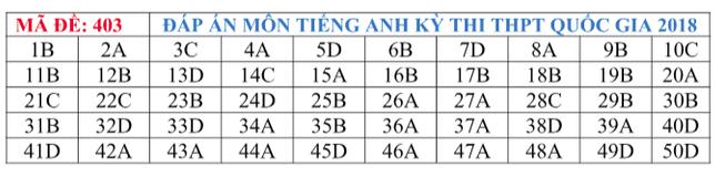 Gợi ý đáp án tất cả các mã đề thi môn Ngoại ngữ kỳ thi THPT Quốc gia 2018 - Ảnh 6.
