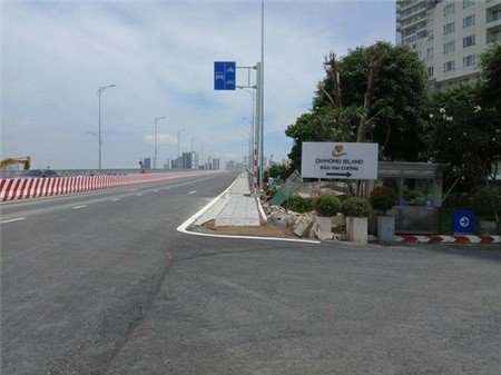 Vừa thông cầu, giá nhà đất đảo Kim Cương đã tăng mạnh - Ảnh 1.