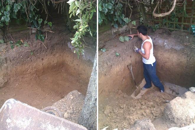 Mặc hàng xóm nhòm ngó, anh chàng mải miết đào bới đất trong vườn nhà, đến khi nhìn thấy kết quả ai cũng thốt lên kinh ngạc - Ảnh 2.