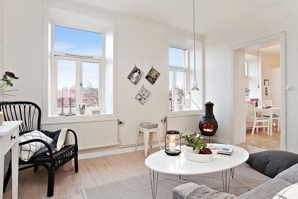 Sống sang chảnh trong căn hộ trắng tinh khôi chỉ 39m2 - Ảnh 2.
