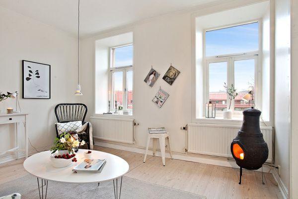 Sống sang chảnh trong căn hộ trắng tinh khôi chỉ 39m2 - Ảnh 5.