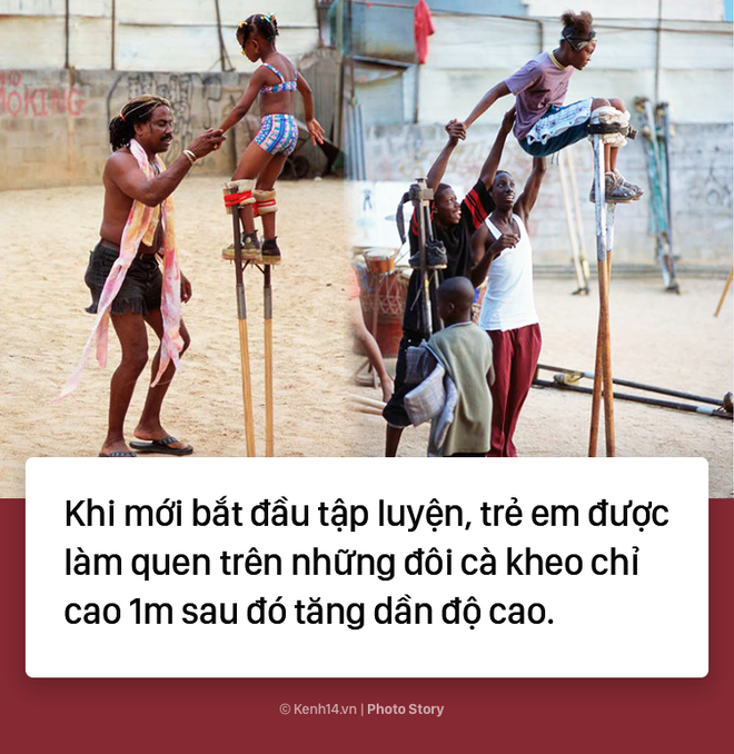 Trẻ em Trinidad & Tobago thi nhau nhảy múa trên chiếc cà kheo cao 3m - Ảnh 4.
