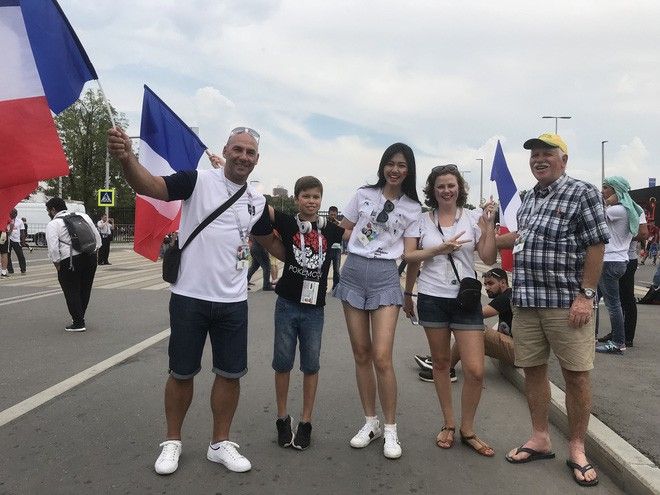 Siêu mẫu Thu Hằng, Á hậu Thanh Tú sang Nga xem chung kết World Cup 2018 - Ảnh 4.