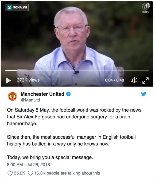 Sir Alex lần đầu tiên lên tiếng sau phẫu thuật não, động viên Mourinho và Man United - Ảnh 2.