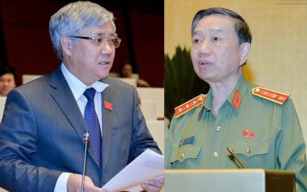 Bộ trưởng Bộ Công an Tô Lâm trả lời chất vấn trong 3 giờ - Ảnh 1.
