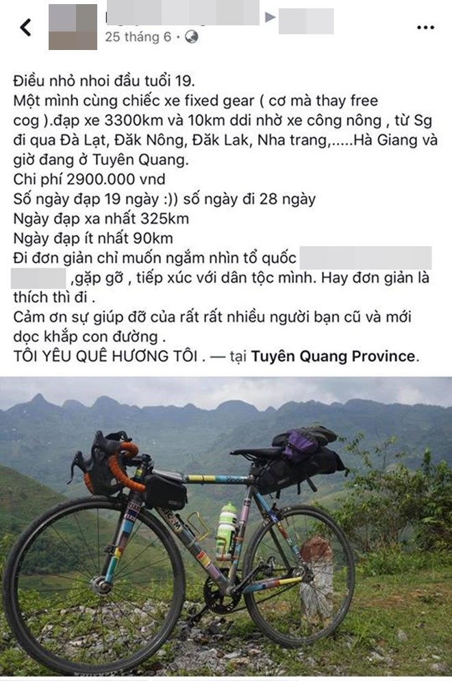 Khoe em trai 19 tuổi cùng hành trình xuyên Việt bằng xe đạp, nhưng dân mạng lại chú ý đến cô chị vì xinh xắn - Ảnh 5.