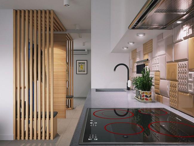 Mê mẩn với thiết kế căn hộ chỉ 34m² nhưng rất đa năng và hiện đại đến từng chi tiết - Ảnh 7.