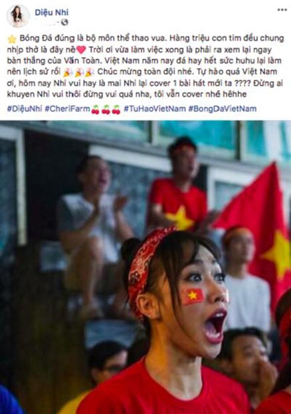 U23 Việt Nam chiến thắng: Văn Mai Hương lao ra đường, Cát Phượng có hành động bất ngờ - Ảnh 8.