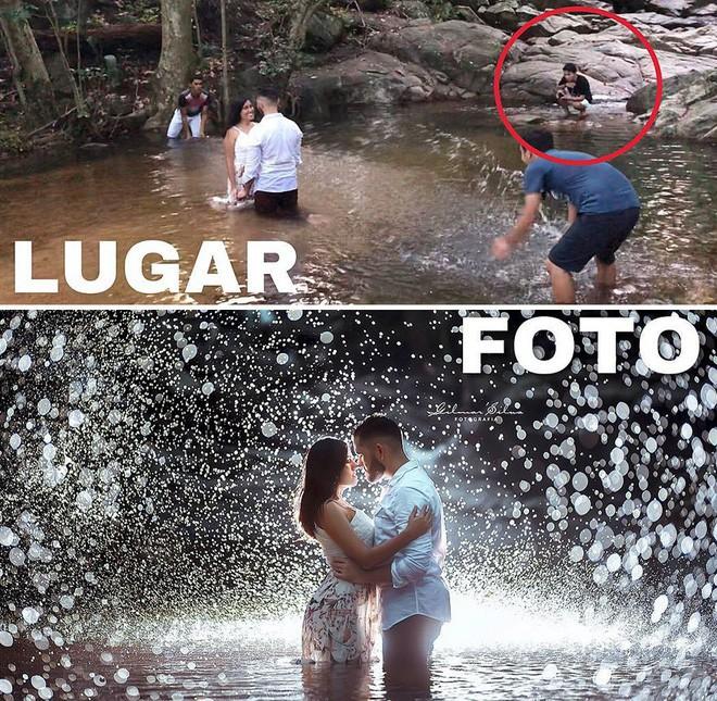 Thánh chụp ảnh Photoshop phong cách siêu tiết kiệm: Bãi lá khô cũng thành thắng cảnh, khu nước cạn cũng hóa hồ tiên - Ảnh 1.