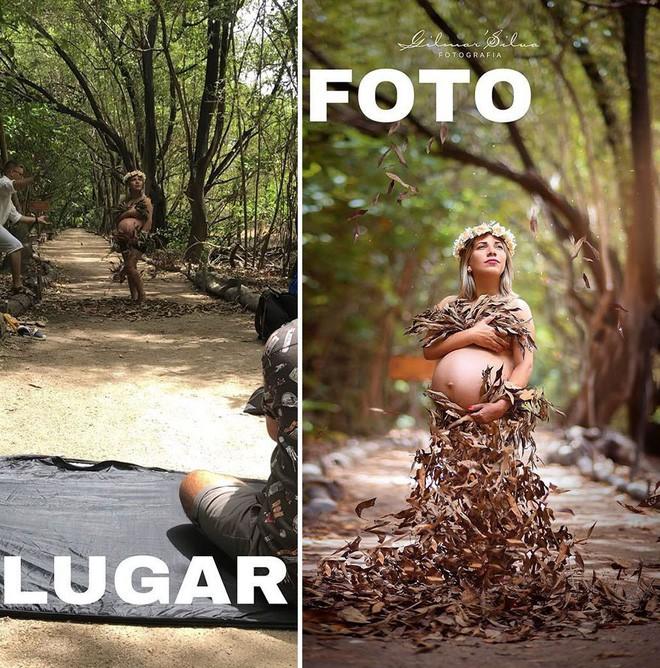 Thánh chụp ảnh Photoshop phong cách siêu tiết kiệm: Bãi lá khô cũng thành thắng cảnh, khu nước cạn cũng hóa hồ tiên - Ảnh 13.