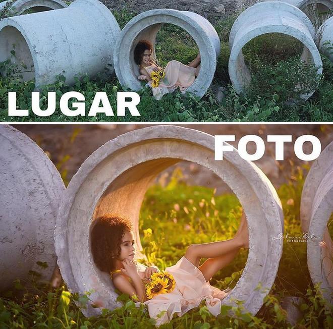 Thánh chụp ảnh Photoshop phong cách siêu tiết kiệm: Bãi lá khô cũng thành thắng cảnh, khu nước cạn cũng hóa hồ tiên - Ảnh 4.