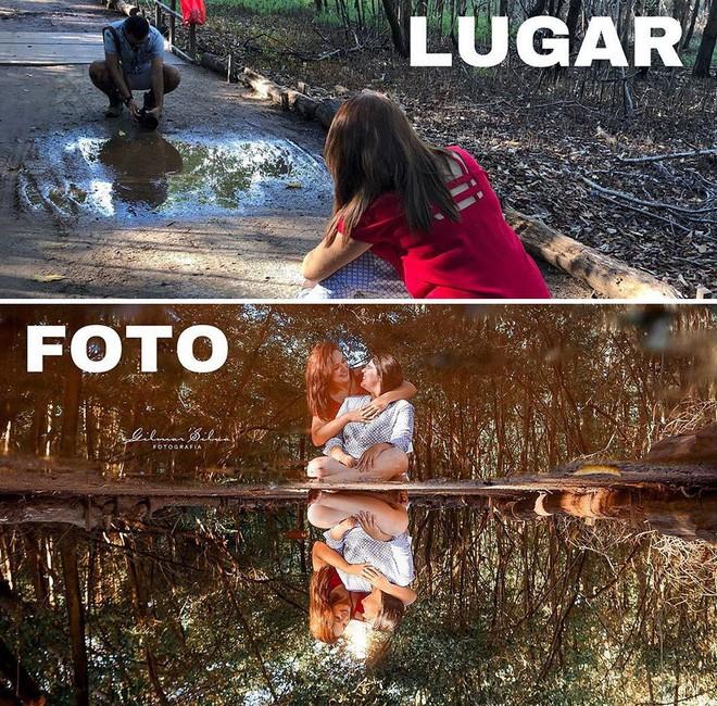 Thánh chụp ảnh Photoshop phong cách siêu tiết kiệm: Bãi lá khô cũng thành thắng cảnh, khu nước cạn cũng hóa hồ tiên - Ảnh 8.