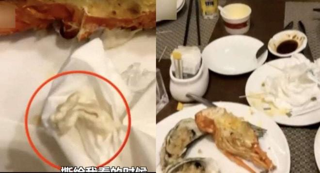 Trung Quốc: Thực khách tìm thấy bã kẹo cao su trong tôm hùm, nhà hàng bảo Chắc nó nuốt phải thôi - Ảnh 1.