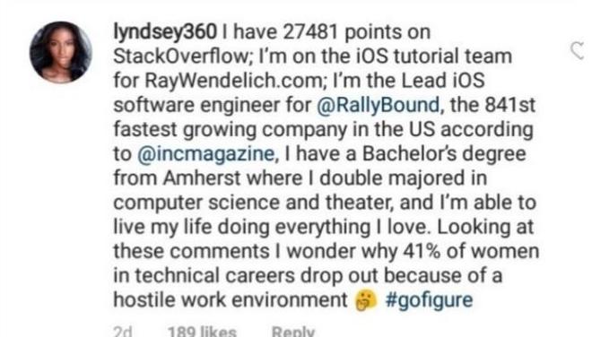 Lập trình viên kiêm siêu mẫu Victorias Secret dập tắt mọi lời mỉa mai trên mạng xã hội chỉ bằng một bình luận - Ảnh 5.
