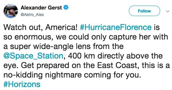 Ảnh vệ tinh thể hiện sức mạnh hủy diệt của Florence, siêu bão to bằng cả một bang Mỹ - Ảnh 3.