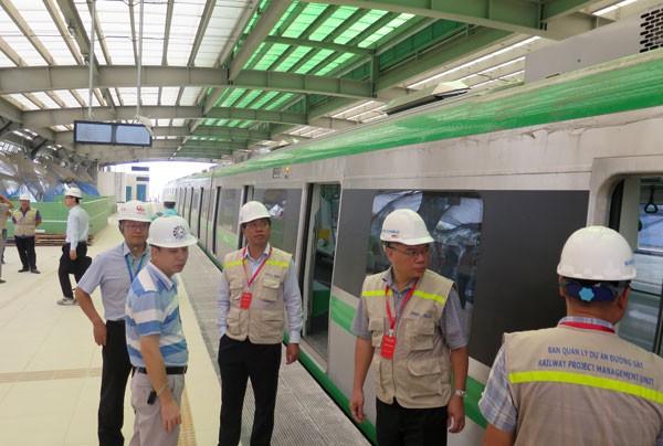 Lập 5 đoàn tàu chạy thử toàn tuyến Cát Linh - Hà Đông - Ảnh 1.
